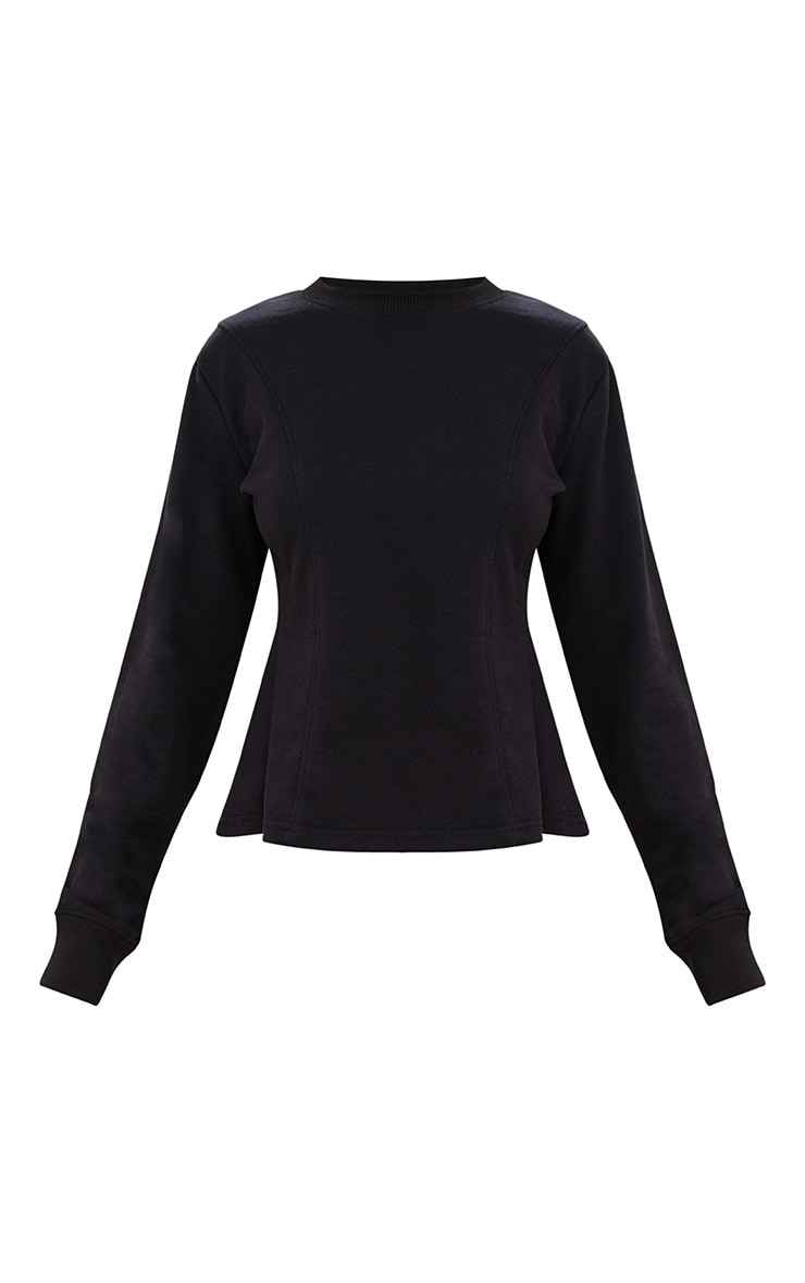 Black Corset Seam Detail Sweater 3