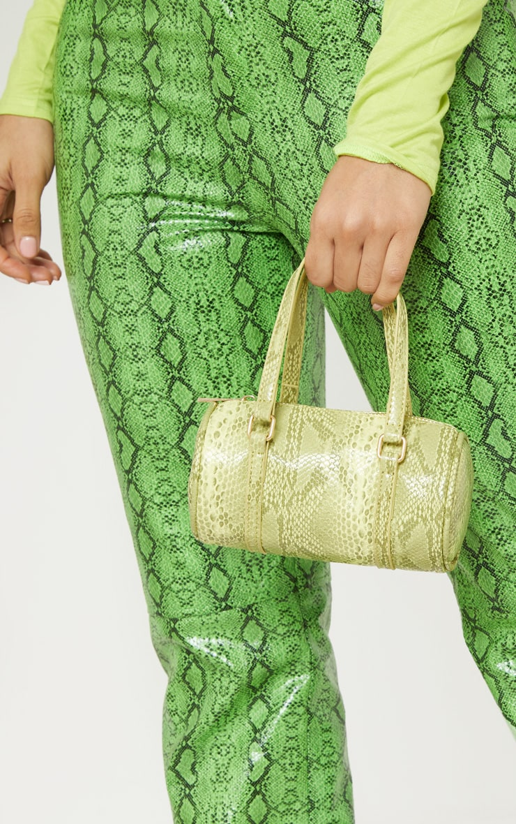 Neon Lime Snake Mini Bowling Bag 1