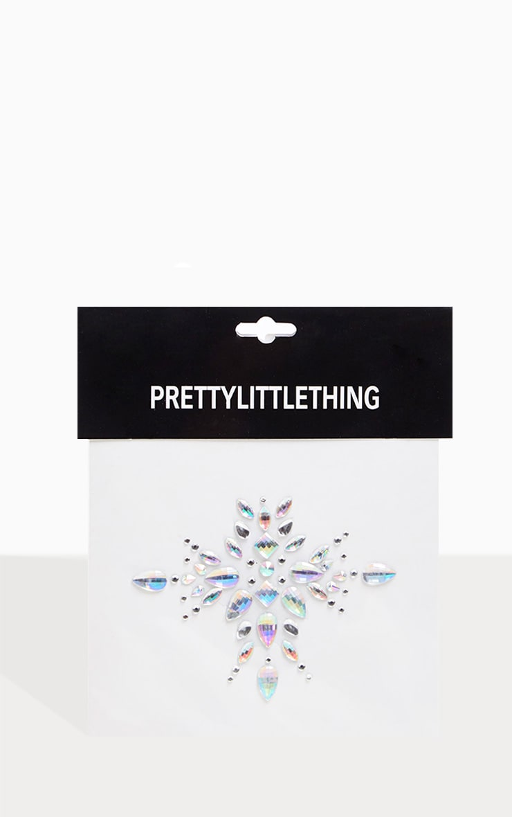PRETTYLITTLETHING Arctic Angel Silver Chest Jewel 2