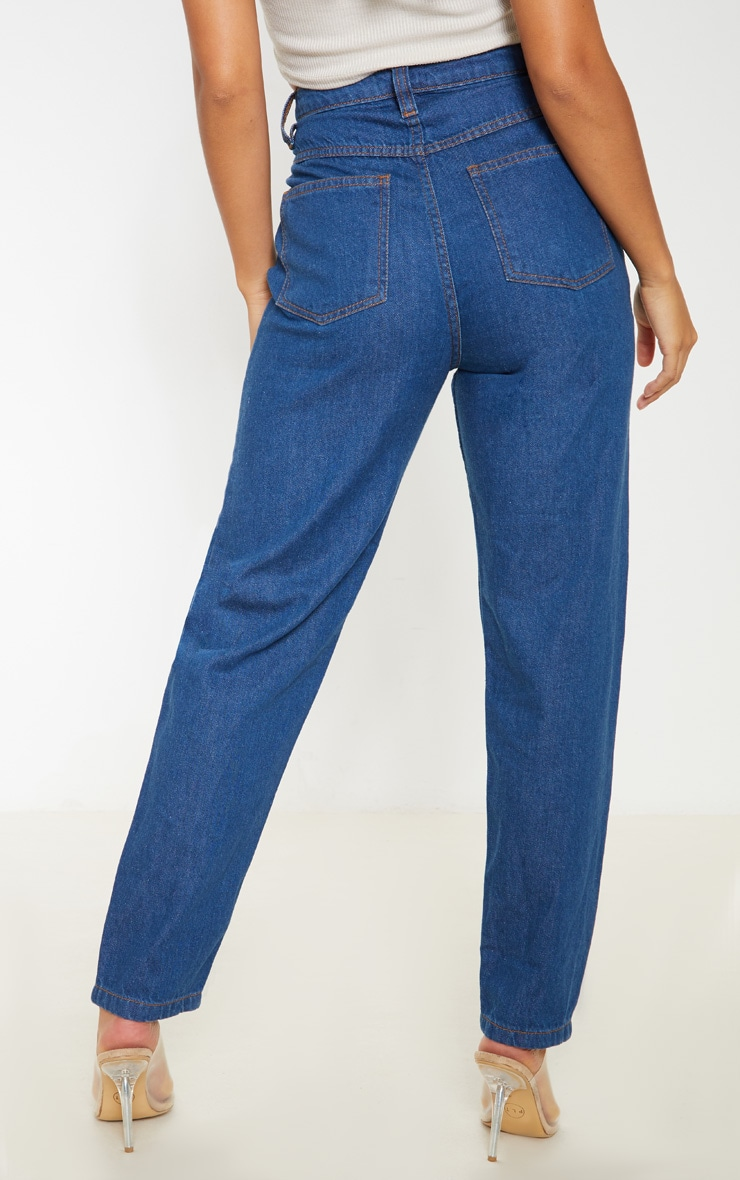 Petite Mid Wash Denim Mom Jean 3