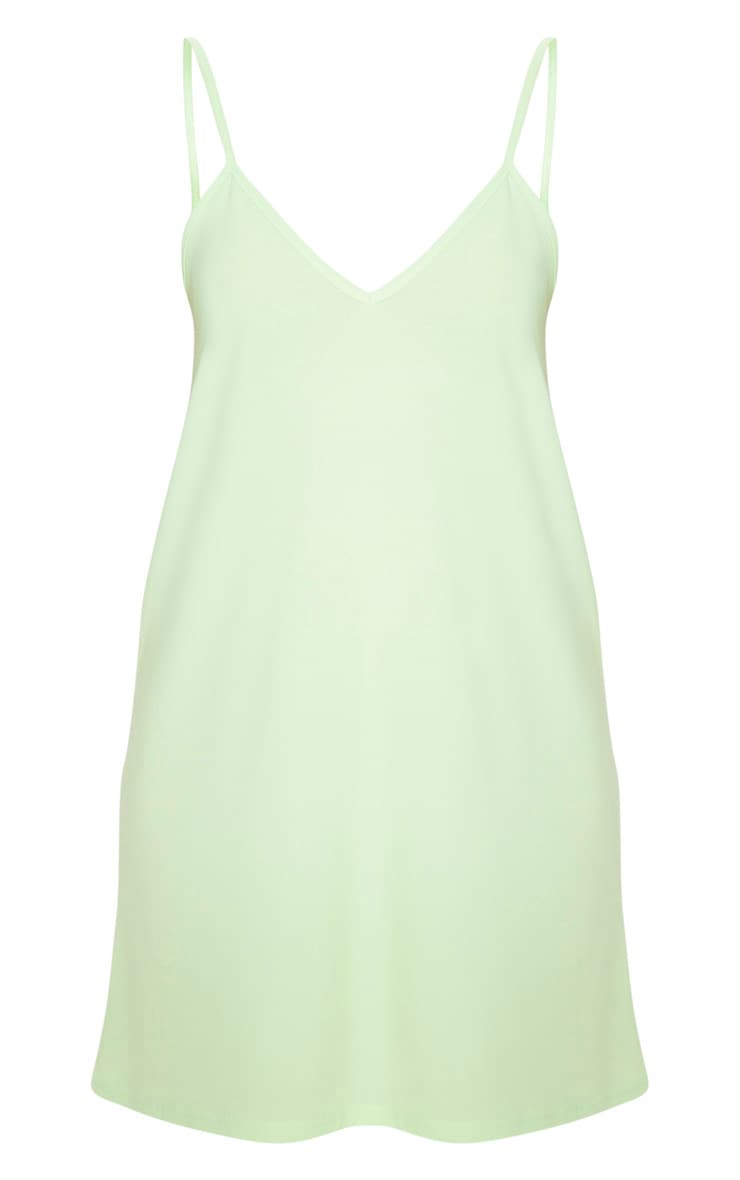 Pale Lime Strappy Detail Backless Cami Dress 3