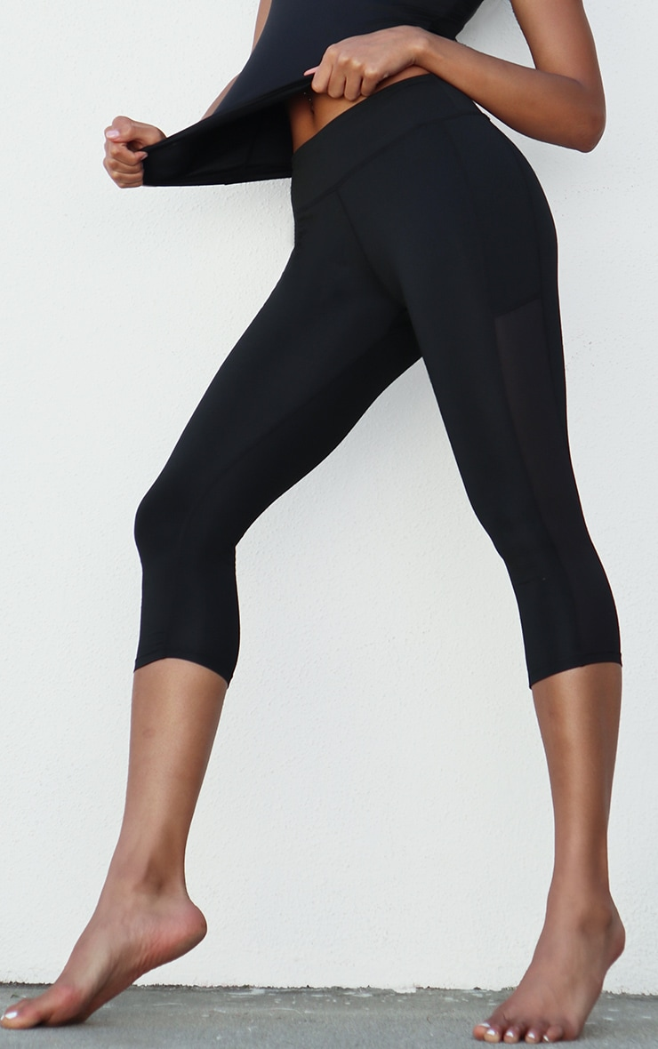 Black Side Pocket Cropped Legging 2