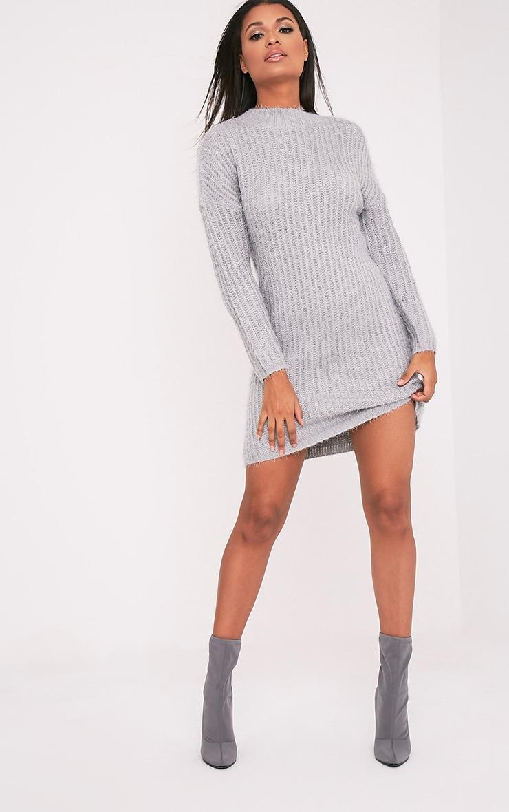 Gordania robe pull en mohair surdimensionnée grise 5