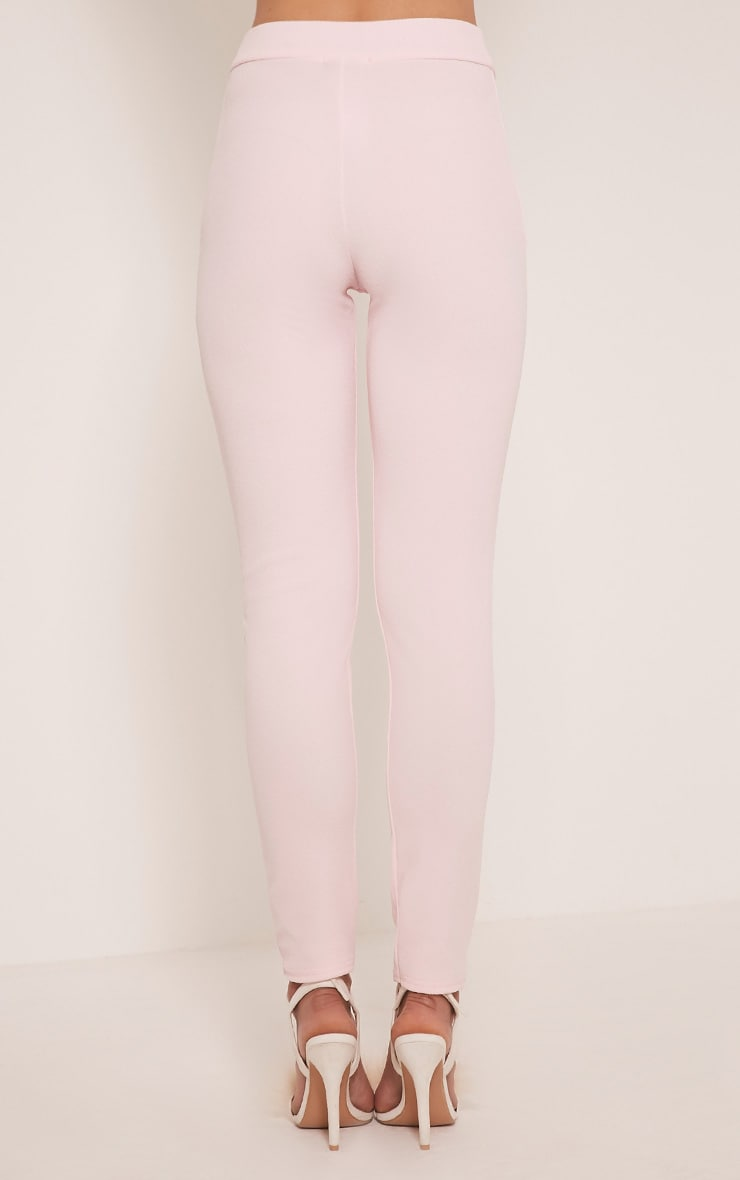 Sage Pink Crepe Cigarette Trousers 5