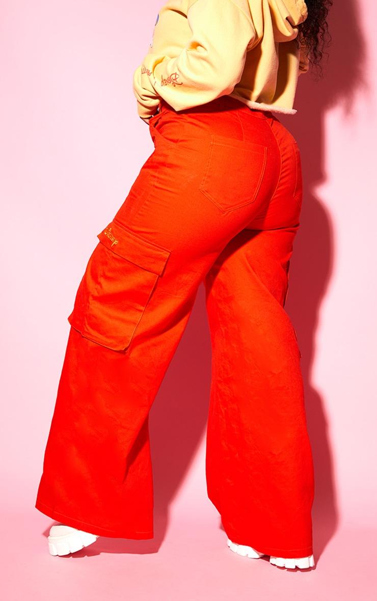 Plus Orange Disney Cargo Pants 5