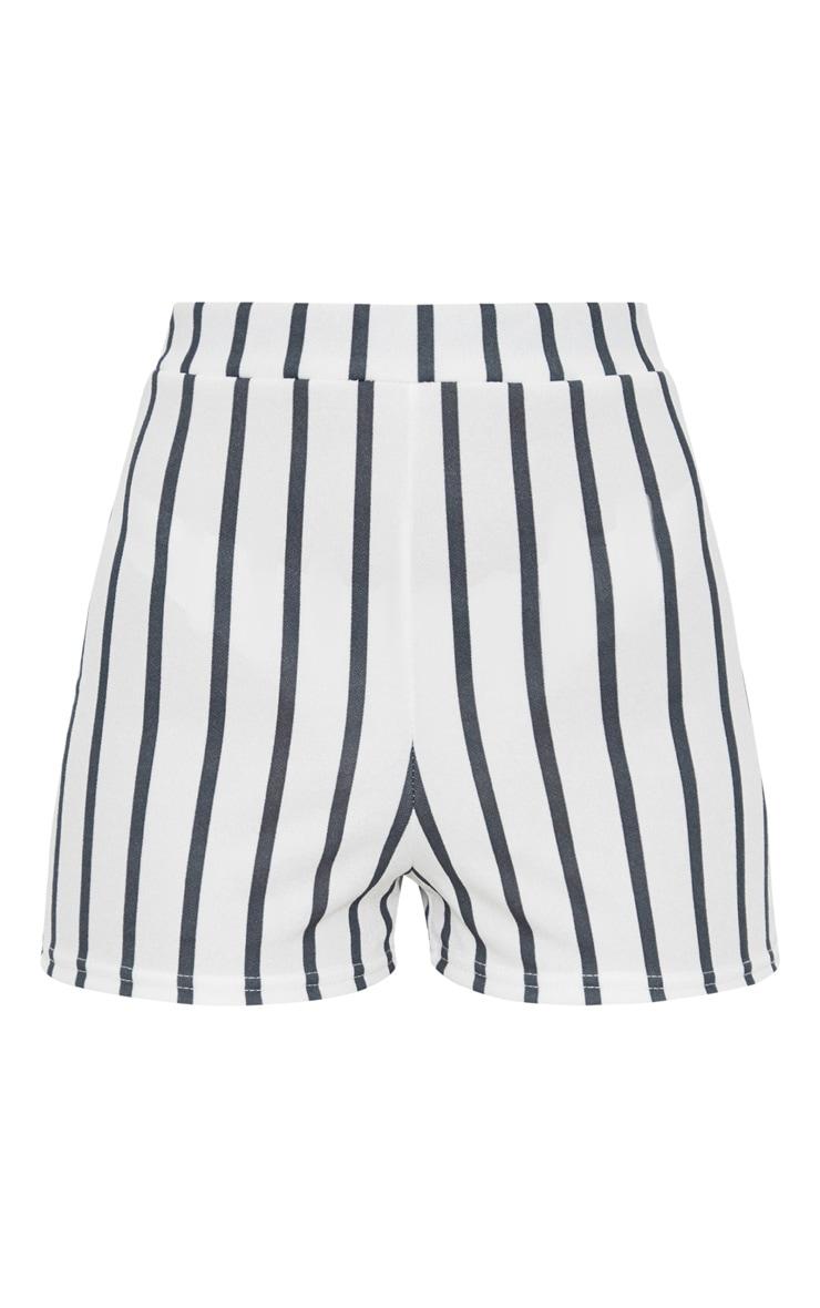 Black Stripe Suit Shorts 3