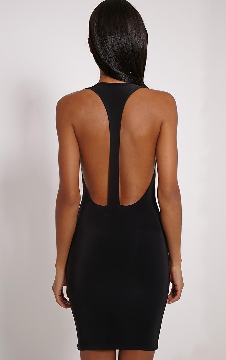 Sammia Black Racer Back Mini Dress 2