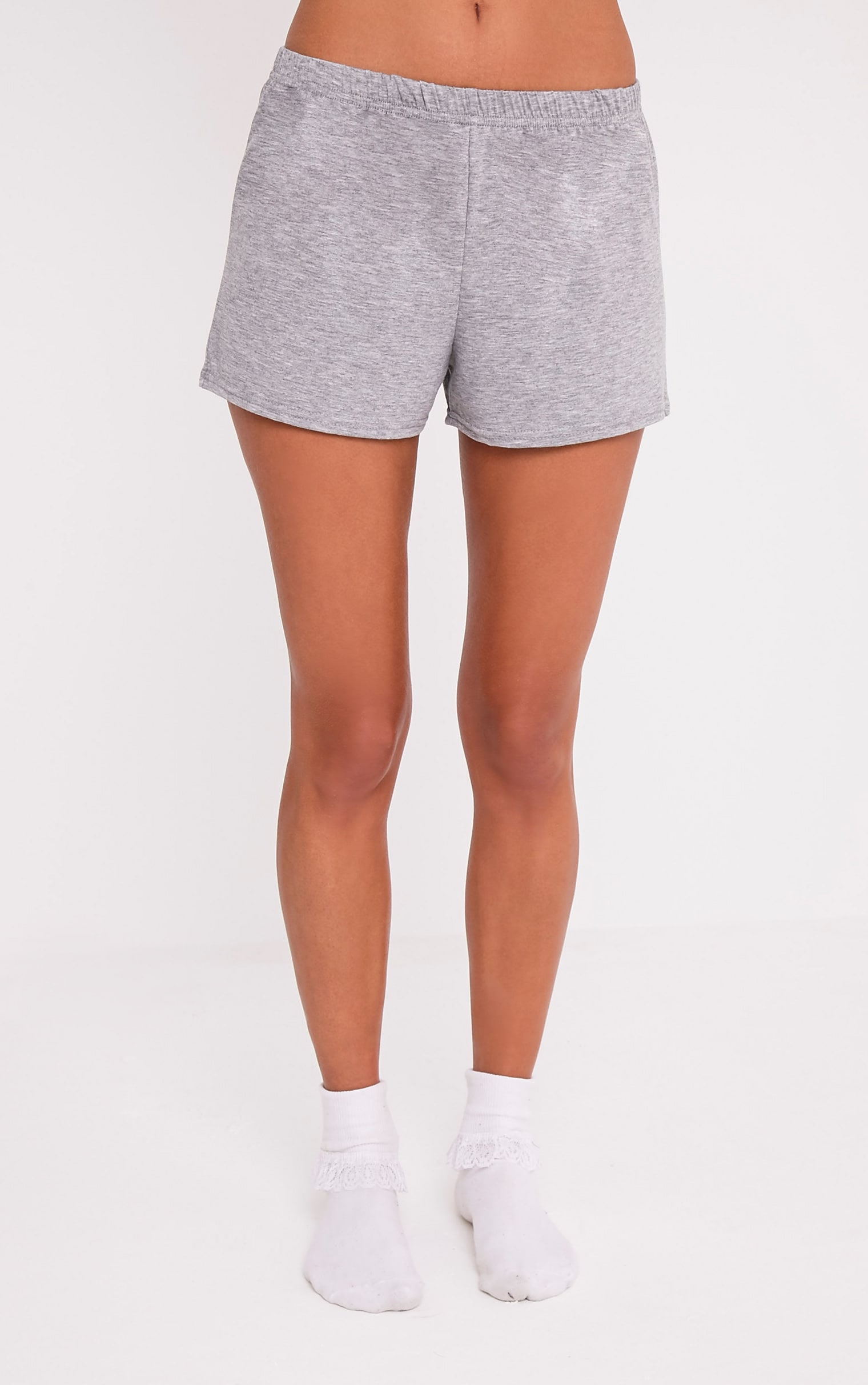 Hen Slogan Grey Pyjama Short Set 5