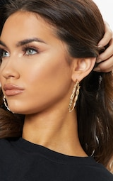 Gold Twisted Hoops 1