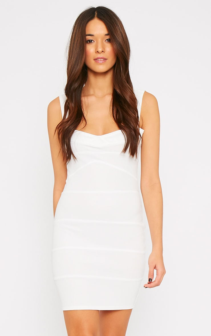 Elsa Cream Bandage Dress 4
