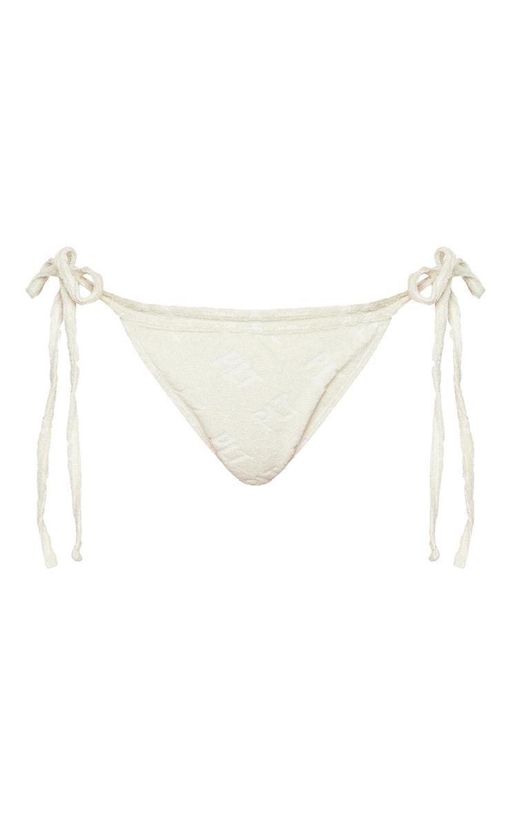 PRETTYLITTLETHING Stone Embossed Towel Bikini Bottoms 5