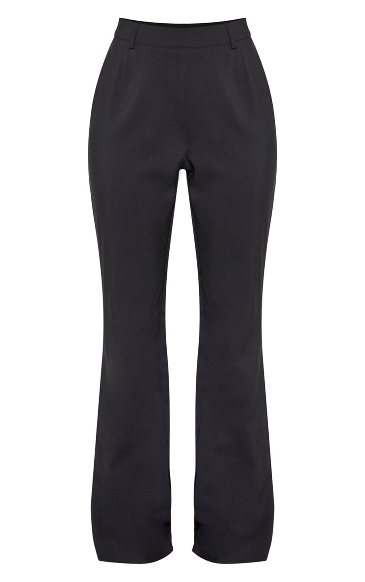 Black Flared Leg Trouser 3