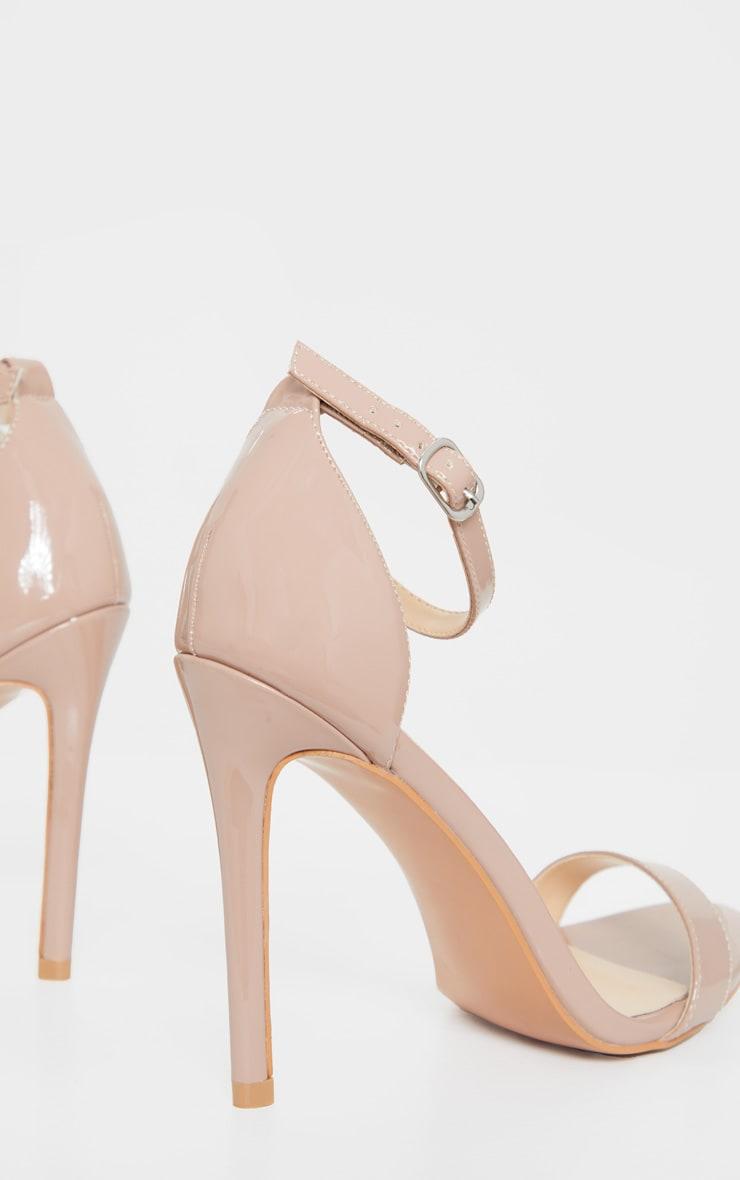 Taupe Clover Strappy Heels 4