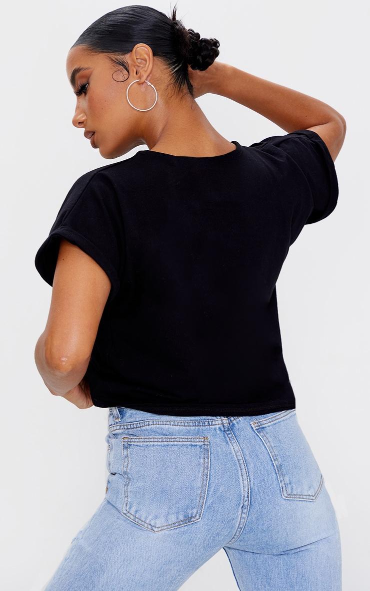 Black Low Arm T Shirt 2