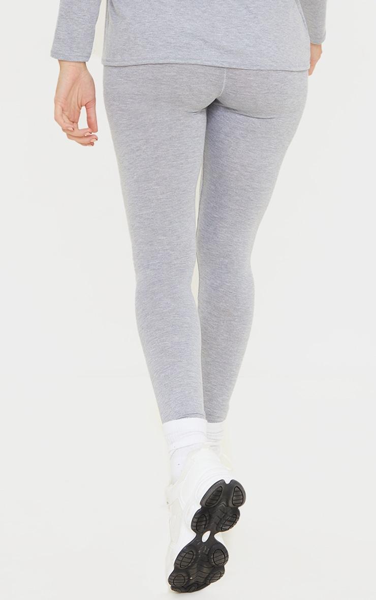 Maternity Grey Cotton Leggings 3