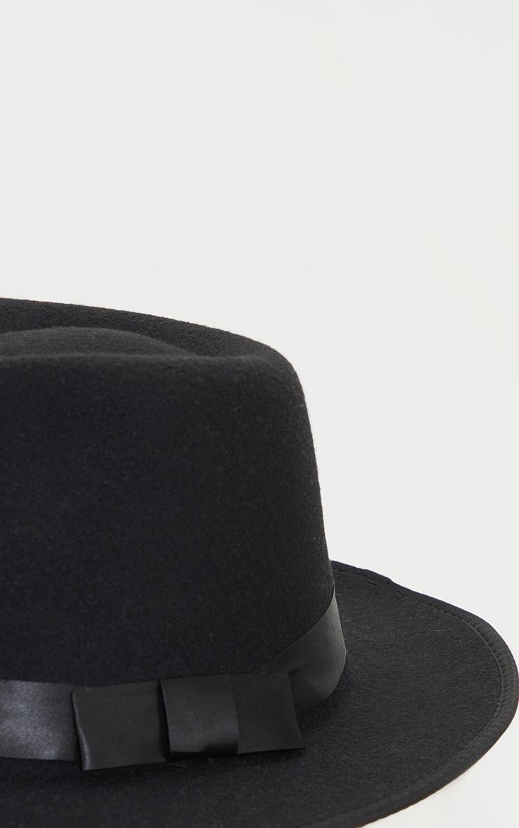 قبعة فيدورا بيزيك سوداء 3