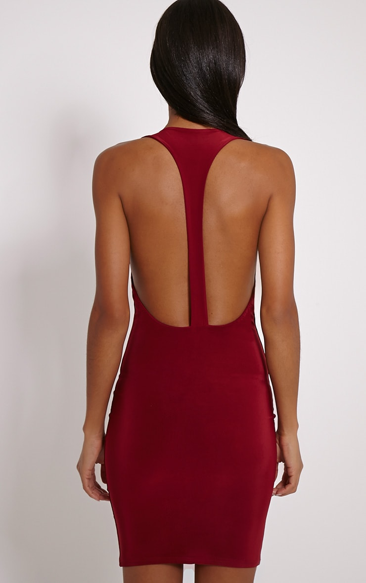 Sammia Burgundy Racer Back Mini Dress 2
