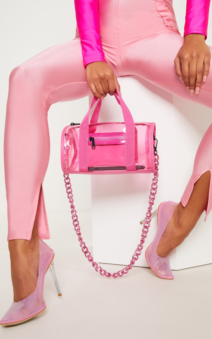 PINK CLEAR BOWLING BAG