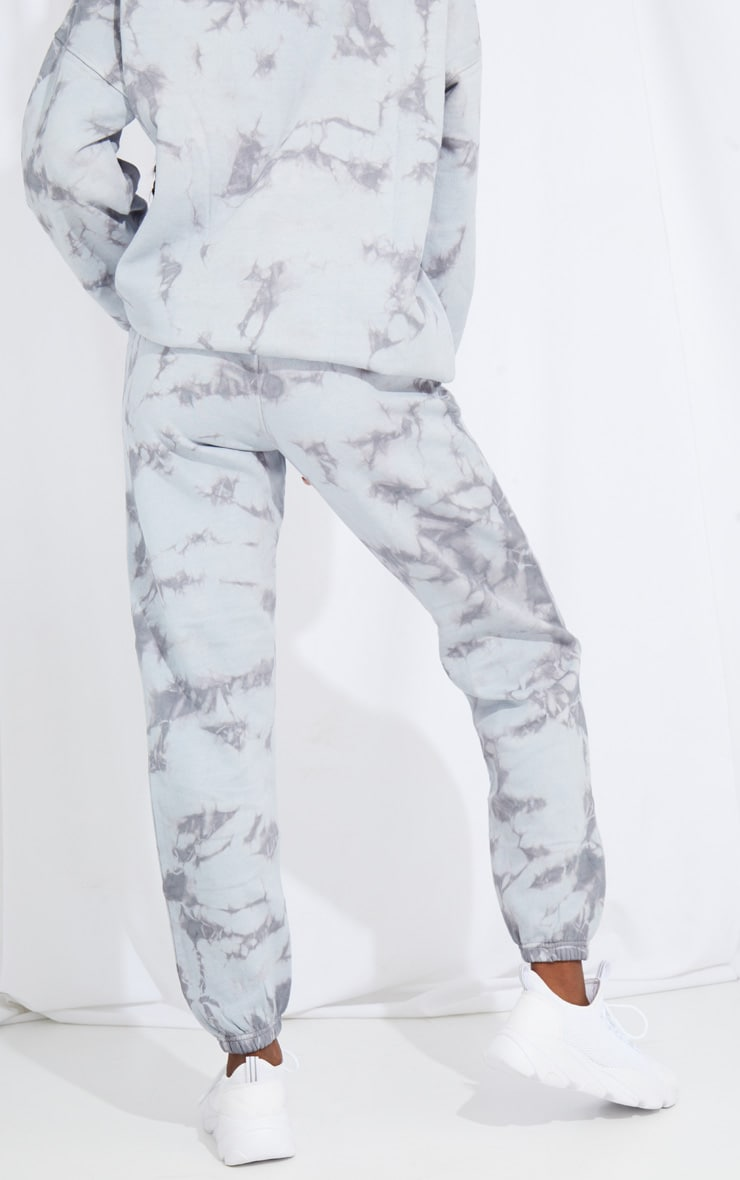 Tall Grey Oversized Tie Dye Joggers 3