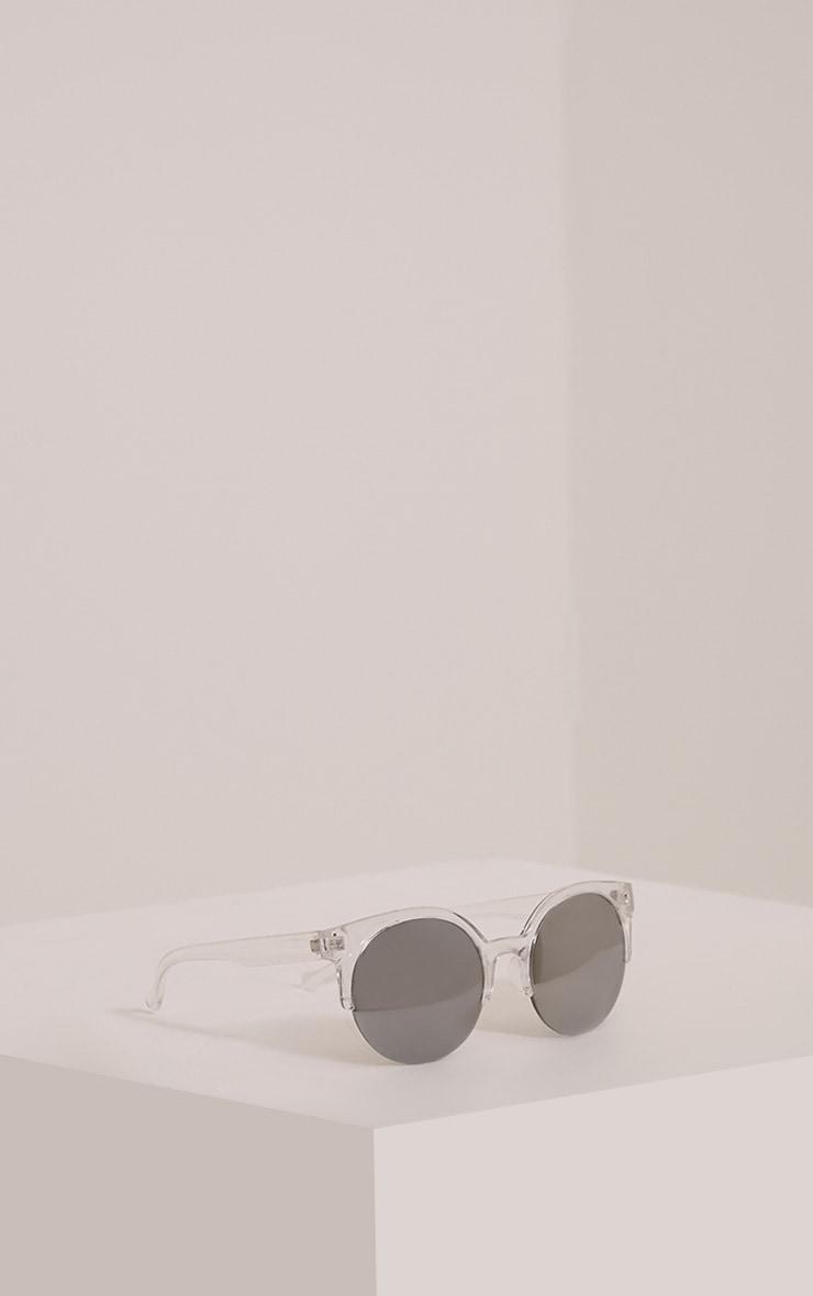 Olie Clear Retro Framed Sunglasses 4