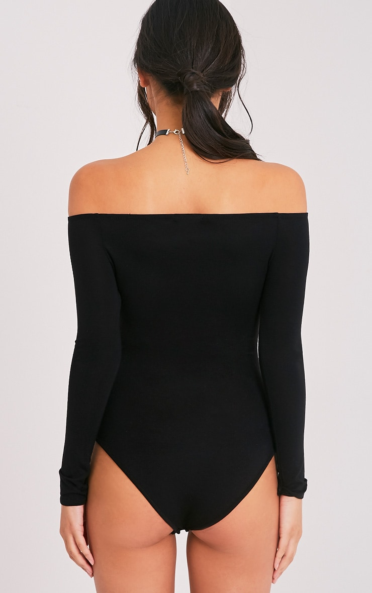 Basic Black Bardot Bodysuit 7