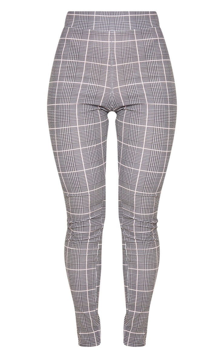 Black Check Print Skinny Pants 3