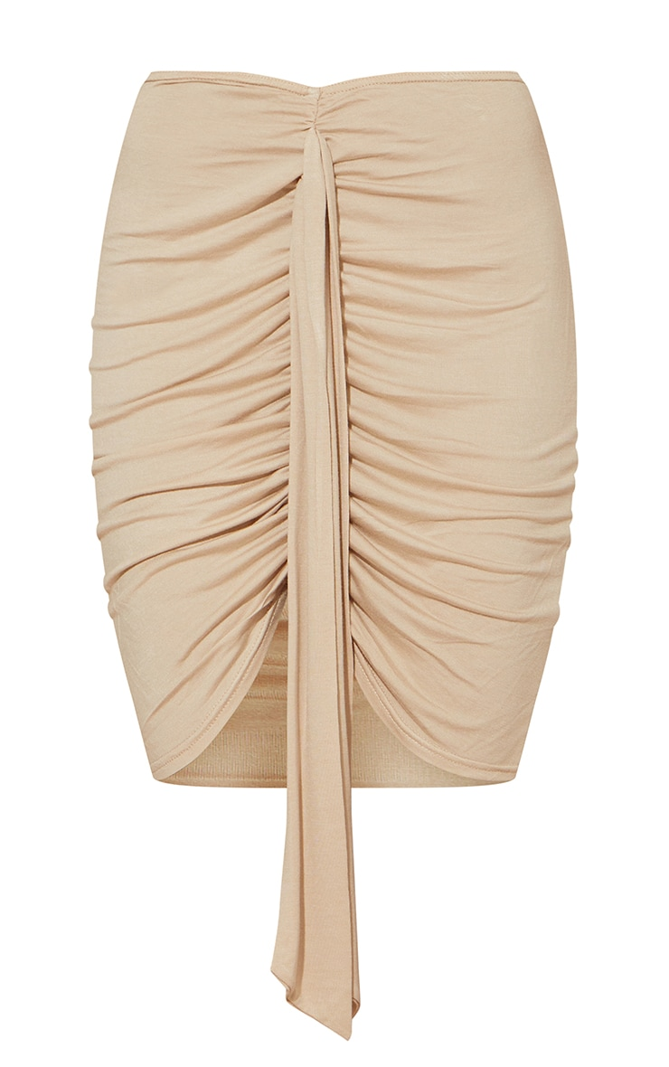 Stone Jersey Drape Detail Mini Skirt 6