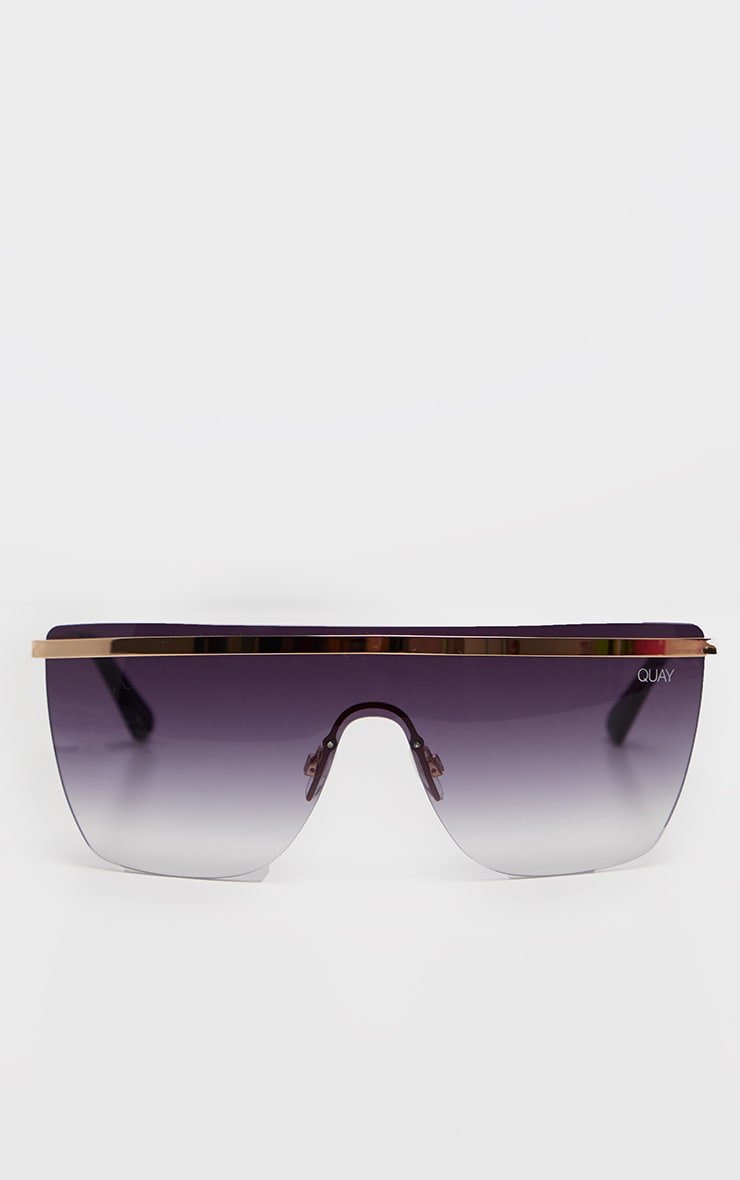 QUAY Gold And Black Get Righ Sunglasses 2