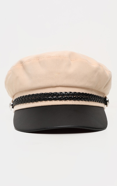 Cream Baker Boy Hat