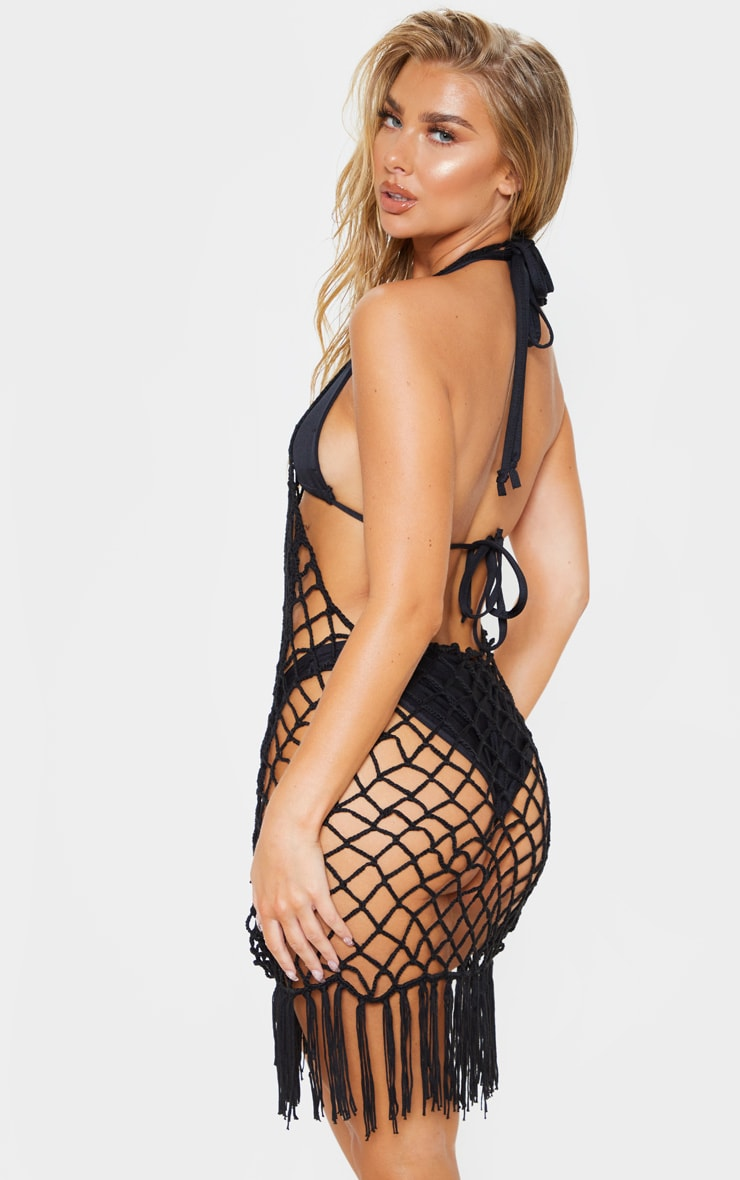 Black Crochet Coverup 2