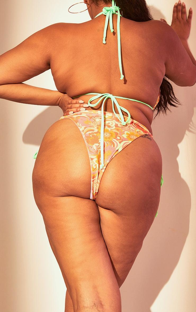 Plus Multi Swirl Print Bikini Bottoms 3