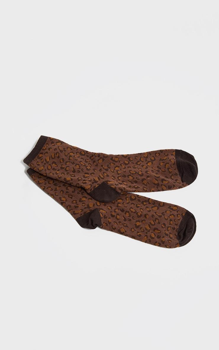 Brown Leopard Socks 4