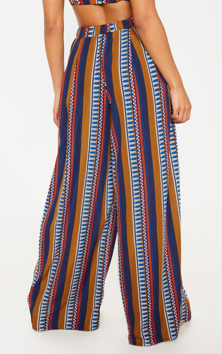 Multi Geo Print Wide Leg Trousers 4
