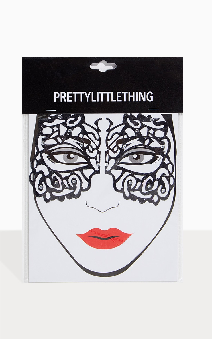 Black Masquerade Mask Face Sticker 2