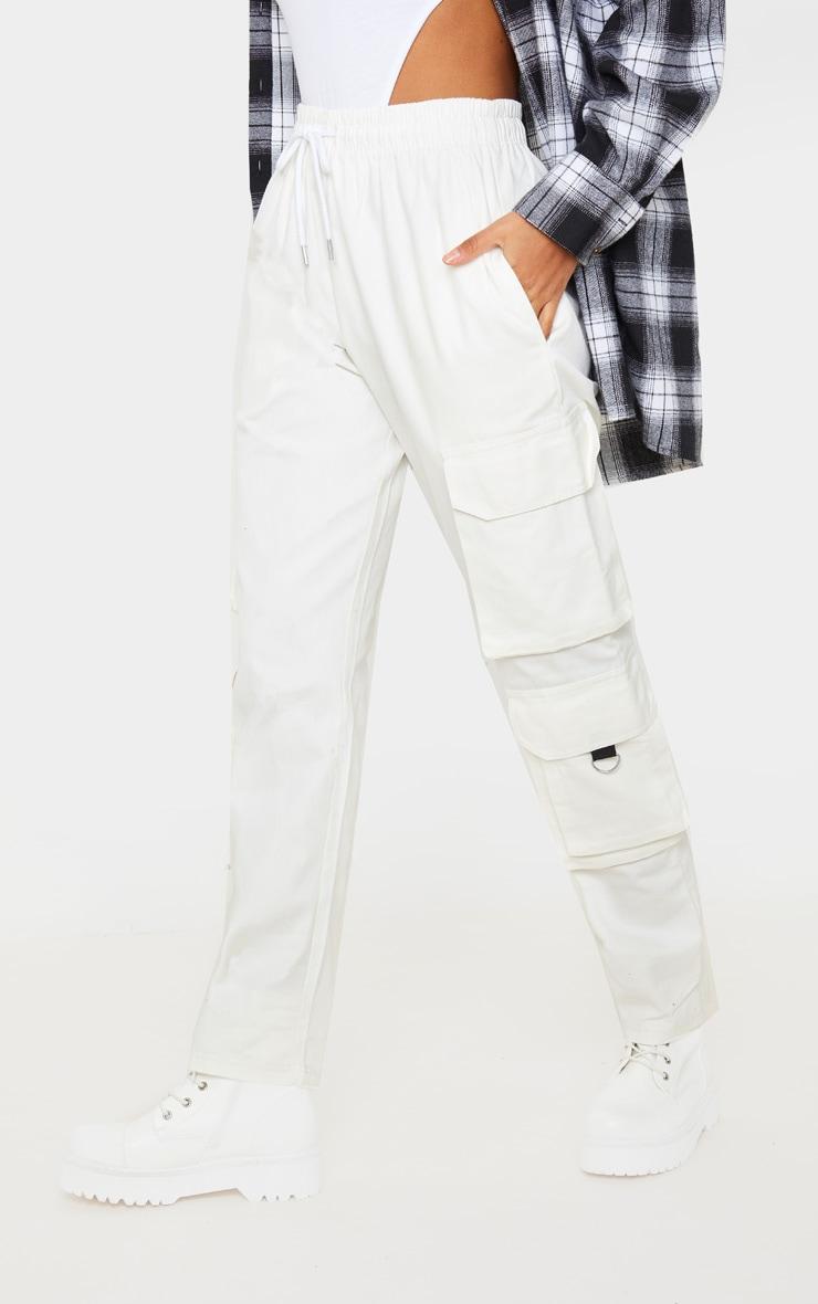 Cream Twill Oversized Utility Trouser 2
