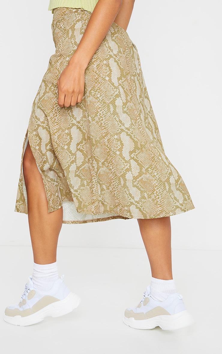 Stone Snake Floaty Midi Skirt 3
