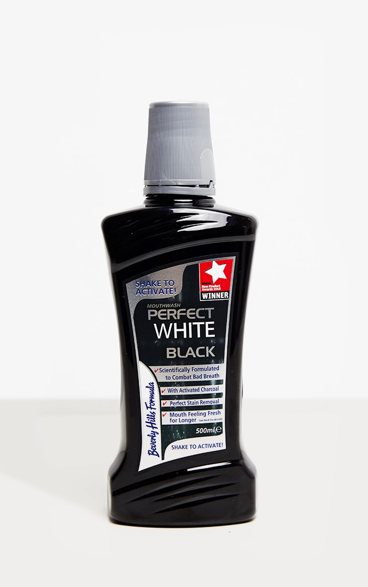 Beverly Hills Formula Perfect White Black Mouthwash 500ml 1