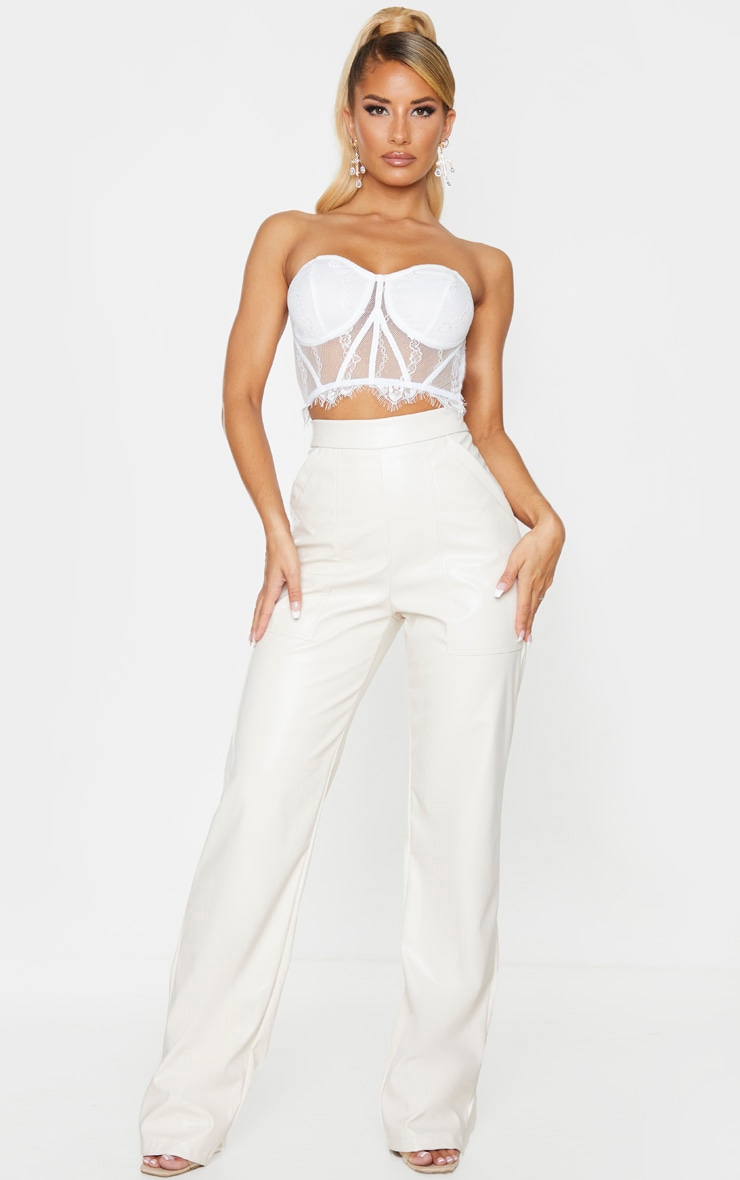 White Sheer Lace Bandeau Top 3