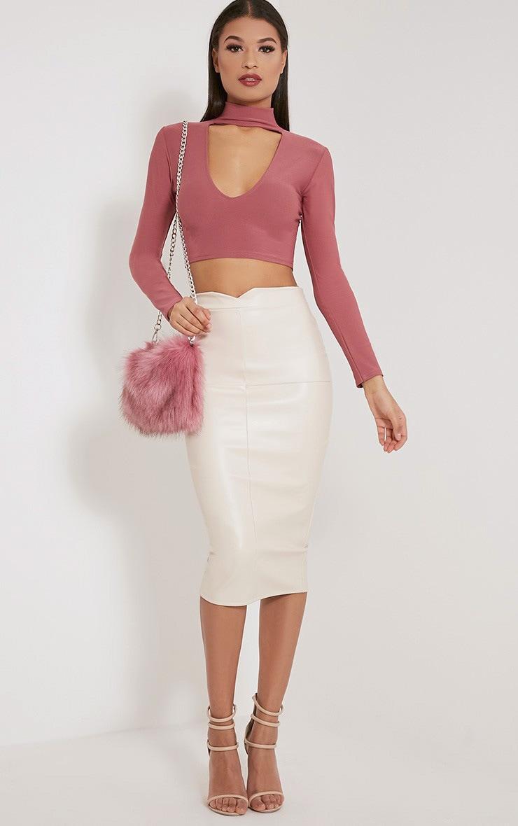 Christah Rose Faux Fur Chain Shoulder Bag 5
