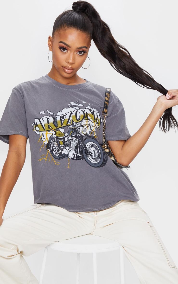 Charcoal Arizona Washed T Shirt 1