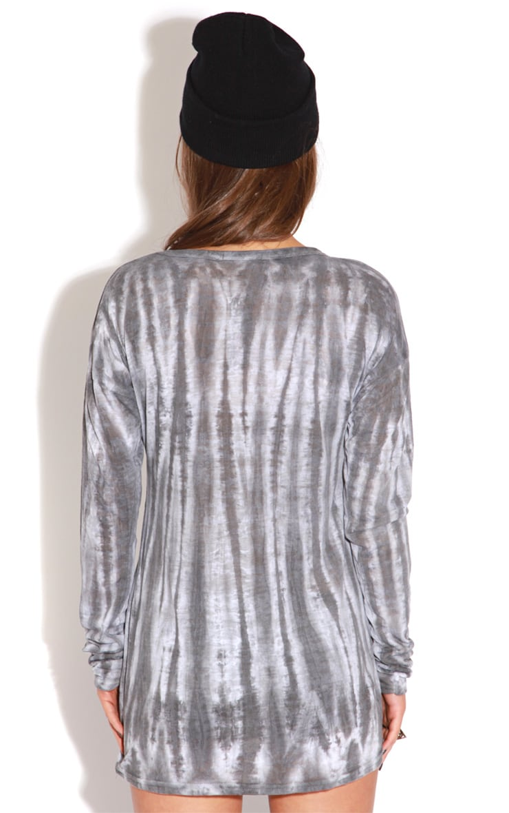 Kari Grey Tie Dye Long Sleeve Top-S/M 2