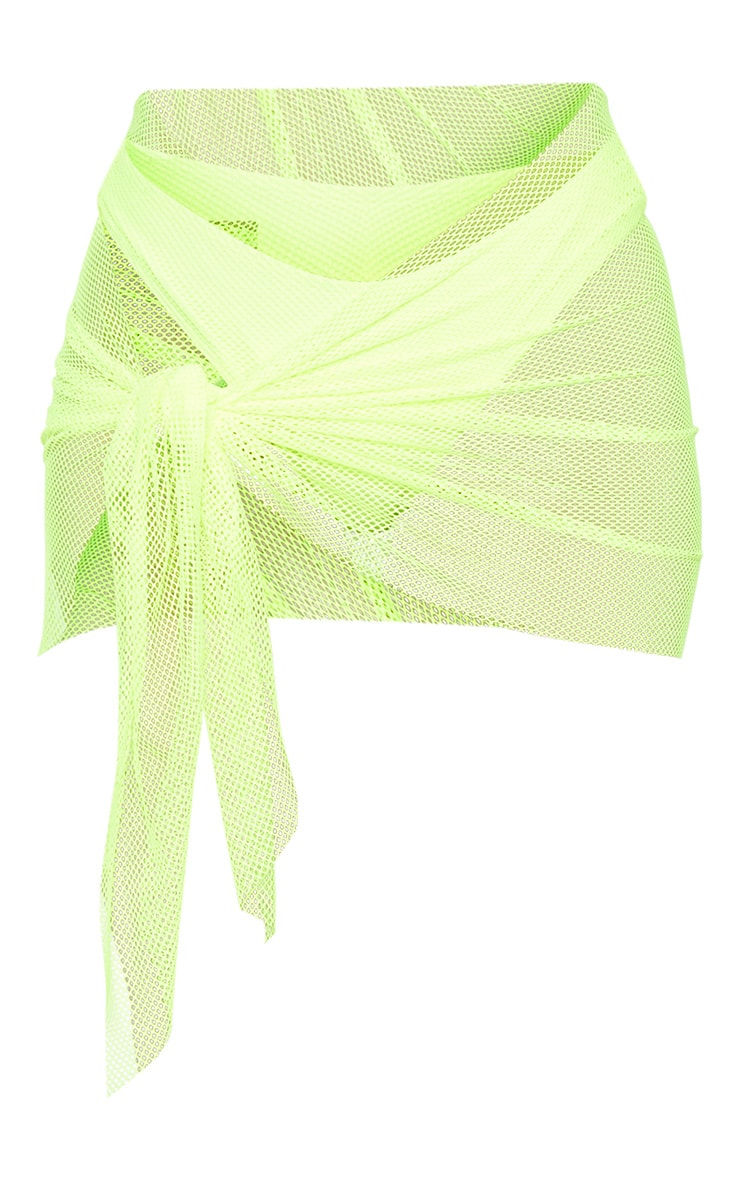 Neon Yellow Net Textured Sarong 3