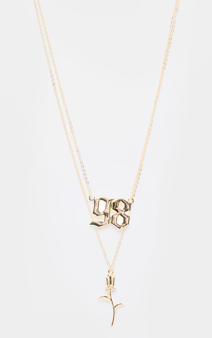 Gold 98 And Rose Layering Necklace 3