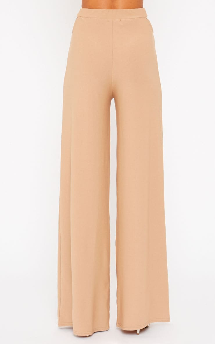 Elphina Camel Cut Out Palazzo Trousers 2
