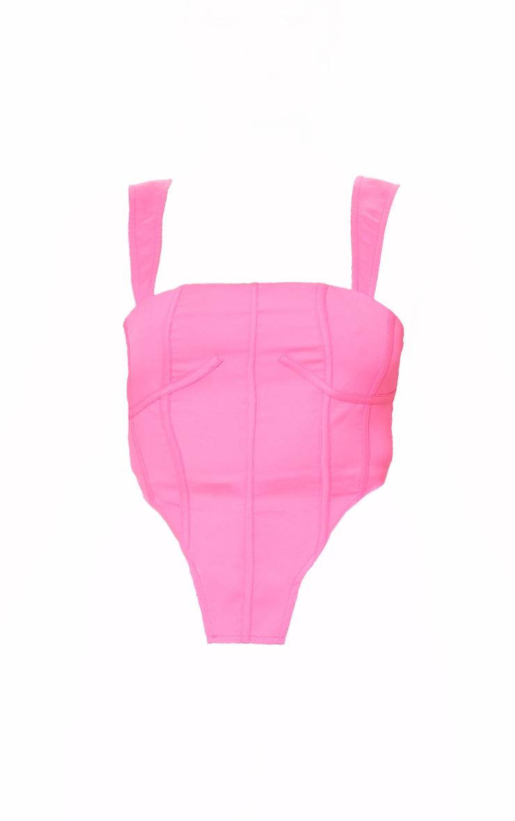 Petite Pink Cut Out Hem Corset 5
