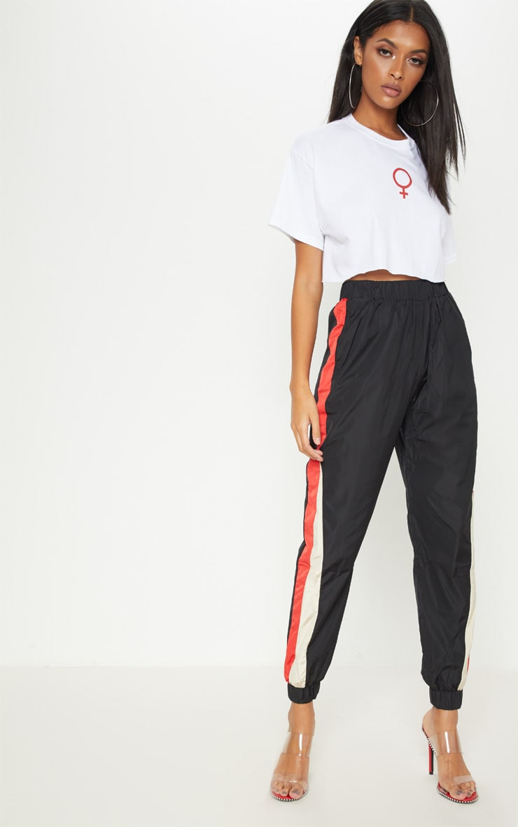 White Female Symbol Crop T Shirt 4