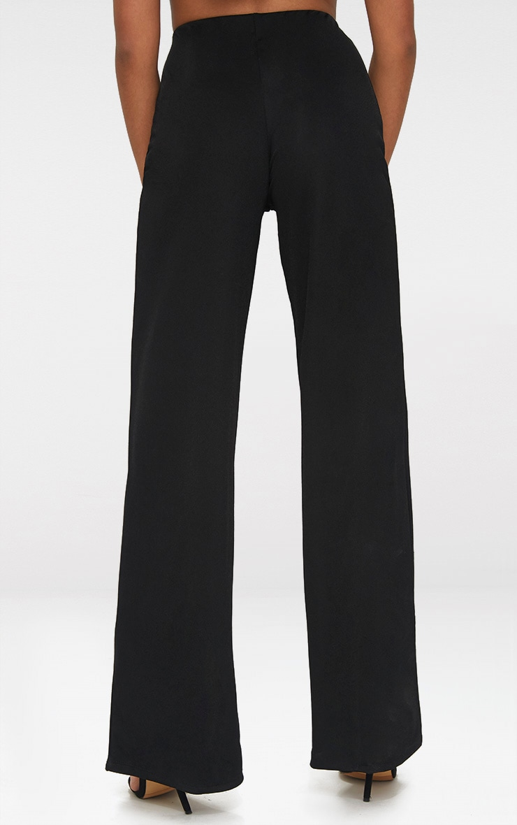 Petite Black Wide Leg Trousers 4