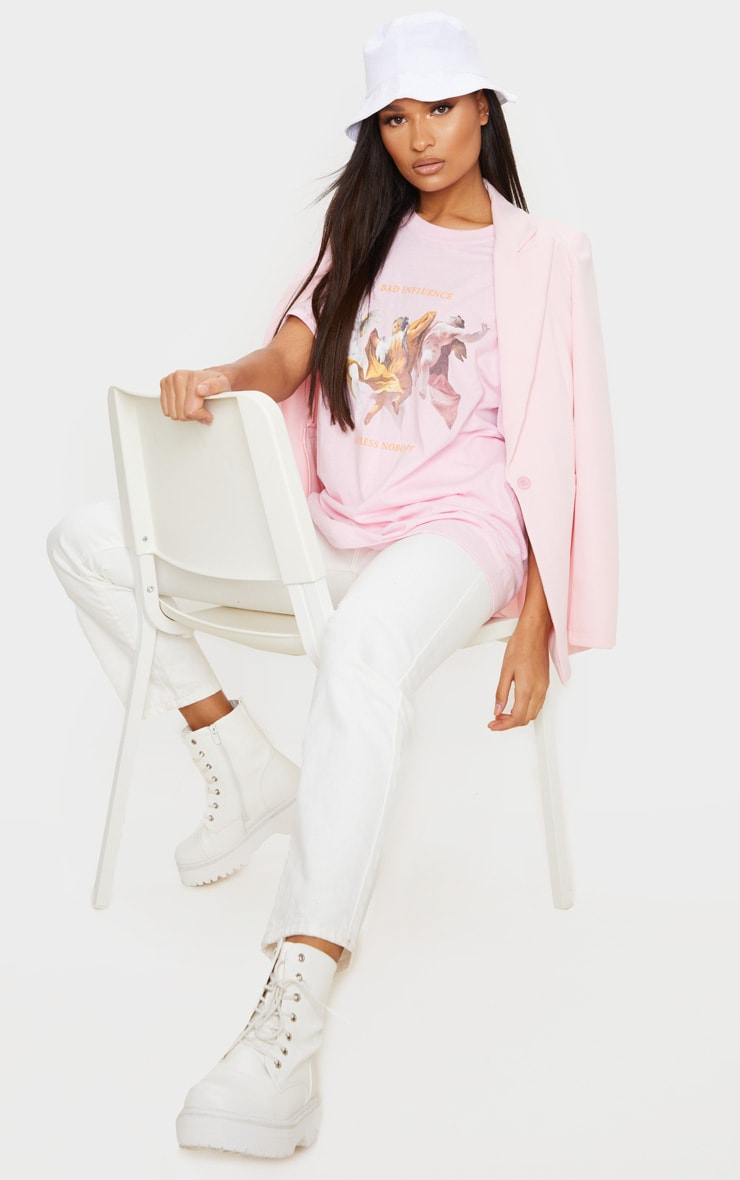 Baby Pink Bad Influence Cherub T Shirt 3