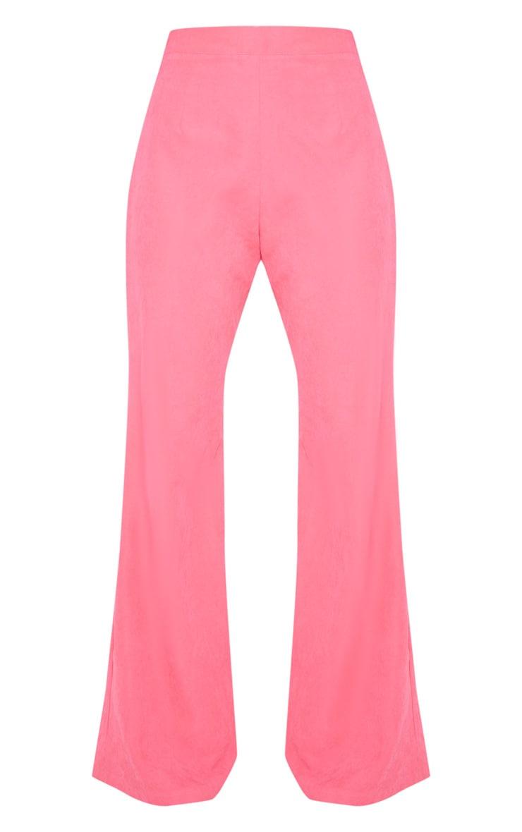 Hot Pink Faux Suede Wide Leg Pants 3