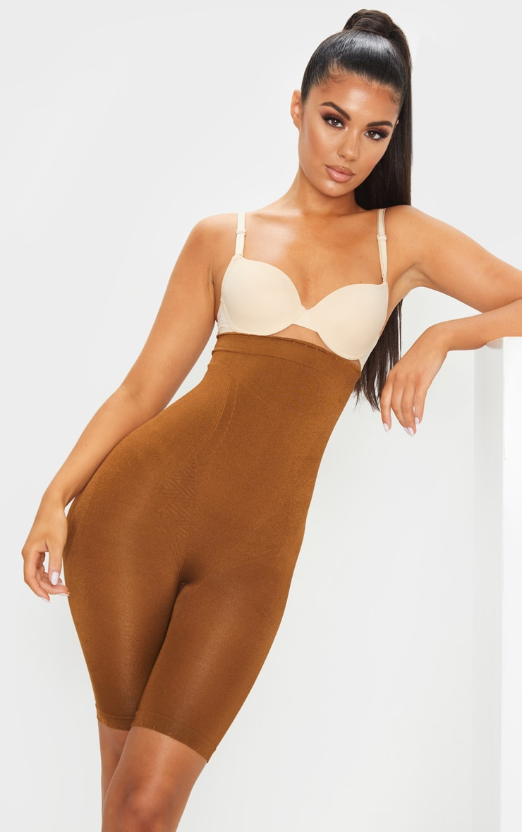 Brown Bum Lift Shapewear High Waisted Short 1